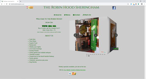 The Robin Hood's website
