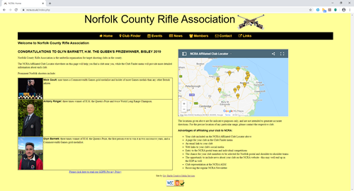 Norfolk County Rifle Association's website