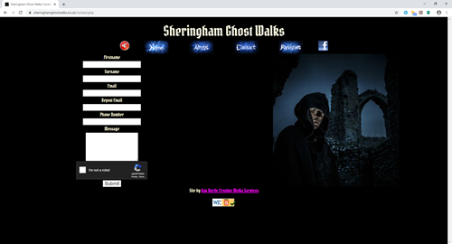 Sheringham Ghost Walks' website