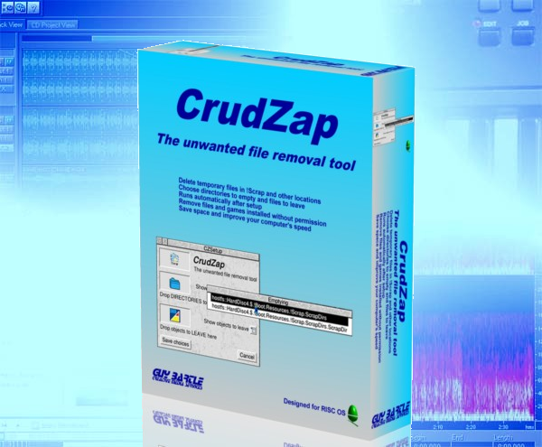 CrudZap RISCOS software background